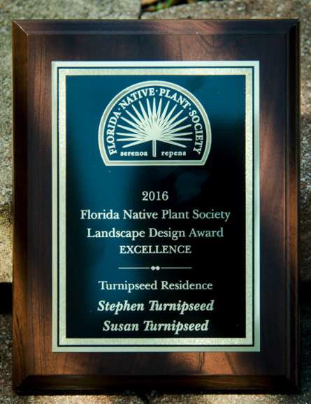 FNPS Landscape Excellence Award - Stephen and Susan Turnipseed, 2016