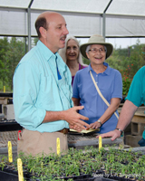 Marc explains about how Green Isles uses their greenhouses.